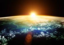 美好的地球展望期 免版税库存图片