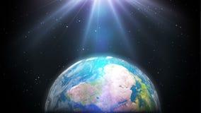 美好的地球自转背景 股票视频