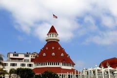 美好的场面有邀请的看法, Hotel del科罗纳多,加利福尼亚, 2016年 库存照片