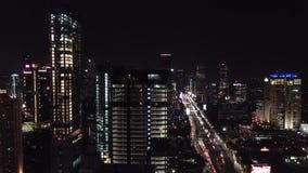 美好的城市光在雅加达 股票录像