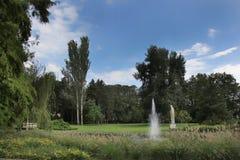 美好的夏天在城市公园 库存照片