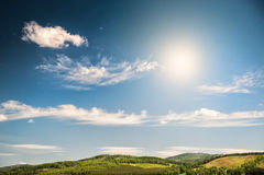 美好的夏天横向 库存照片