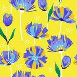 美好的夏天freshy时髦狂放的开花的花郁金香缝 库存例证