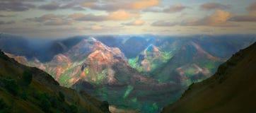 美好的夏威夷海岛考艾岛横向 免版税库存照片