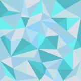 美好的多角形蓝色背景 免版税图库摄影