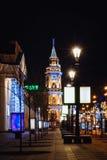 美好的夜圣彼德堡,涅夫斯基Prospekt, Ð ¡ hristmas,新年 免版税库存照片
