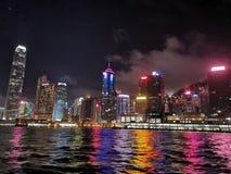 美好的夜在香港 库存照片