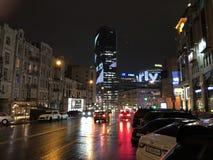 美好的夜在Dnieper 库存图片