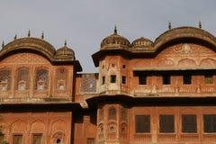美好的大厦城市印度斋浦尔老粉红色 免版税库存照片