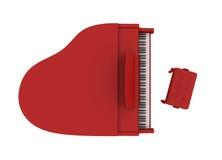美好的大平台钢琴红色 免版税库存图片