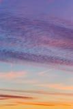 美好的天空日落 免版税库存图片