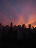 美好的天空日落 库存图片