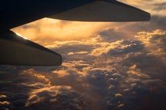 美好的天空自然视图 免版税库存图片