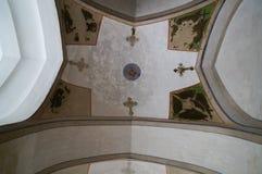 美好的天花板在Vank大教堂,伊斯法罕,伊朗里 库存图片