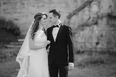 美好的夫妇婚礼 免版税图库摄影