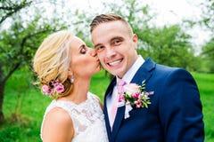 美好的夫妇婚礼 库存照片
