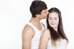 美好的夫妇愉快的年轻人 库存图片