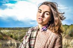 美好的女孩俄语 免版税库存照片