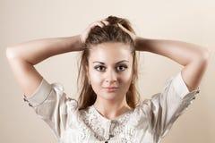 美好的女孩头发藏品 免版税库存照片
