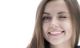 美好的女孩微笑 免版税图库摄影
