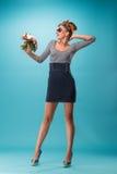 美好的女孩pinup样式 免版税图库摄影