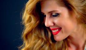 美好的女孩portrait 好的年轻女性面孔 库存图片