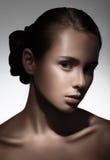 美好的女孩portrait 纯净的秀丽模型 免版税库存图片
