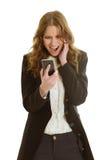 美好的女实业家电话 免版税库存照片