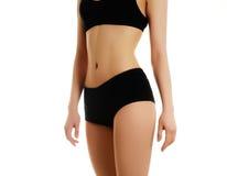 美好的女性亭亭玉立的身体 女性身体的秀丽零件 妇女的 库存图片