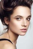 美好的妇女模型魅力画象与 免版税图库摄影