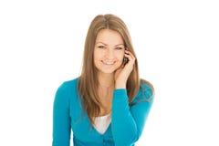 美好的妇女电话 免版税库存图片