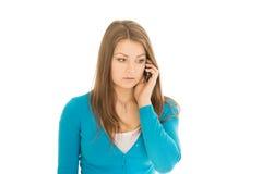 美好的妇女电话 库存照片