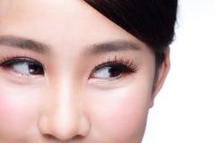 美好的妇女眼睛神色 免版税图库摄影