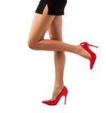 美好的妇女腿 免版税库存照片