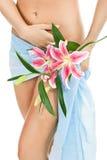 美好的妇女身体 免版税库存照片