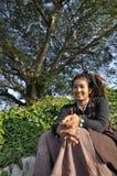 美好的妇女头发Dreadlock亚洲俏丽的样式 免版税库存图片