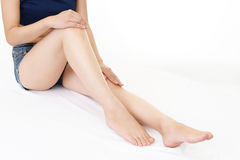 美好的妇女` s腿 免版税库存照片