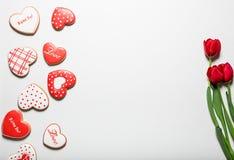 美好的姜饼心脏 库存图片