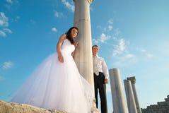 美好的婚礼夫妇 免版税库存照片