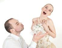 美好的婚礼夫妇 免版税库存图片