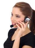 美好的客户女孩技术支持 免版税库存照片