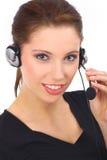 美好的客户女孩技术支持 免版税图库摄影