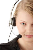 美好的客户操作员服务 库存图片