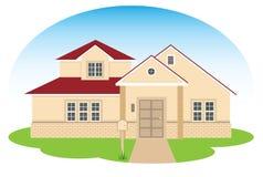 美好的家庭房子 免版税库存照片