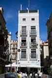 美好的家庭西班牙语 蓝色云彩 美丽的空白房子 图库摄影