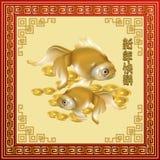 美好的对金黄金鱼 库存照片