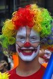 美好的小丑微笑 免版税库存图片