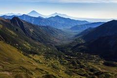 美好的山夏天风景 免版税库存照片