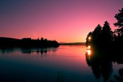 美好的山晚上瑞典 库存图片