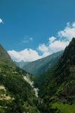 美好的山景 库存照片